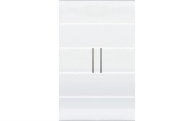 Glastür gestreift Griffleiste 2-flügelig