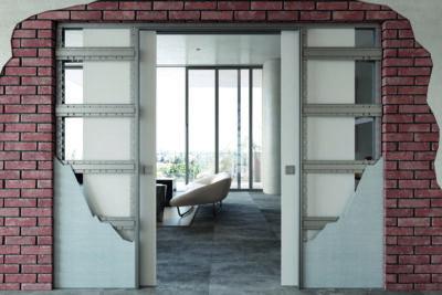 BELPORT Mauerwerk weiß offene Wand